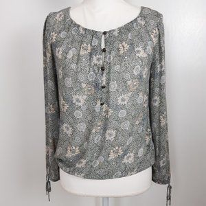 Lucky Brand Floral Blouse Size XSmall